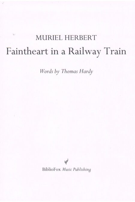 Cover page of Herbert Faintheart in a Railway Train