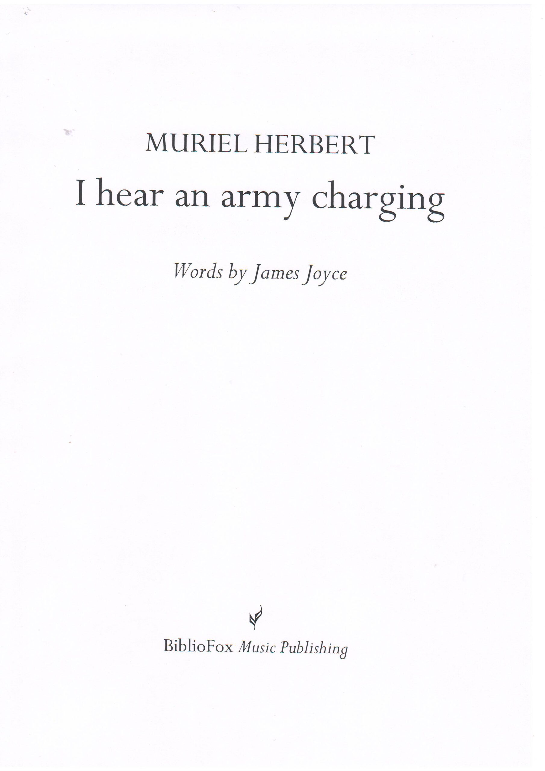 Cover page of Herbert I hear an army charging