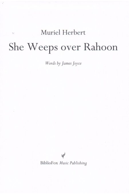 Cover page of Herbert She Weeps over Rahoon
