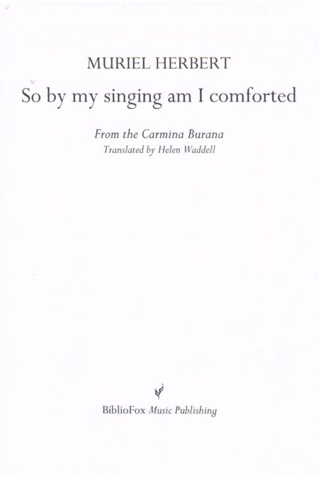 Cover page of Herbert So by my singing