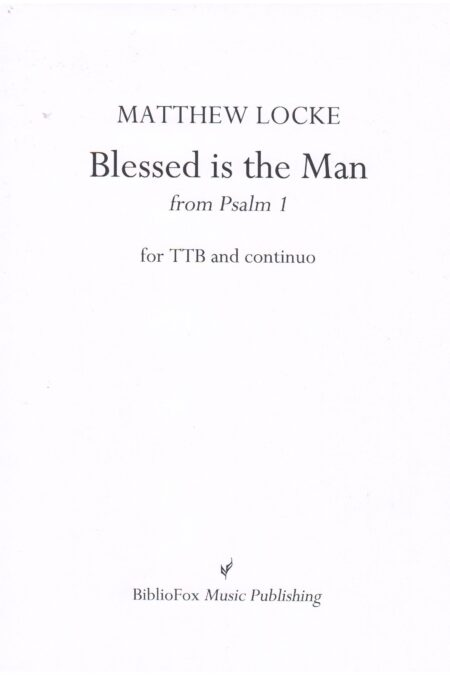 Cover page of Locke Blessed is the Man