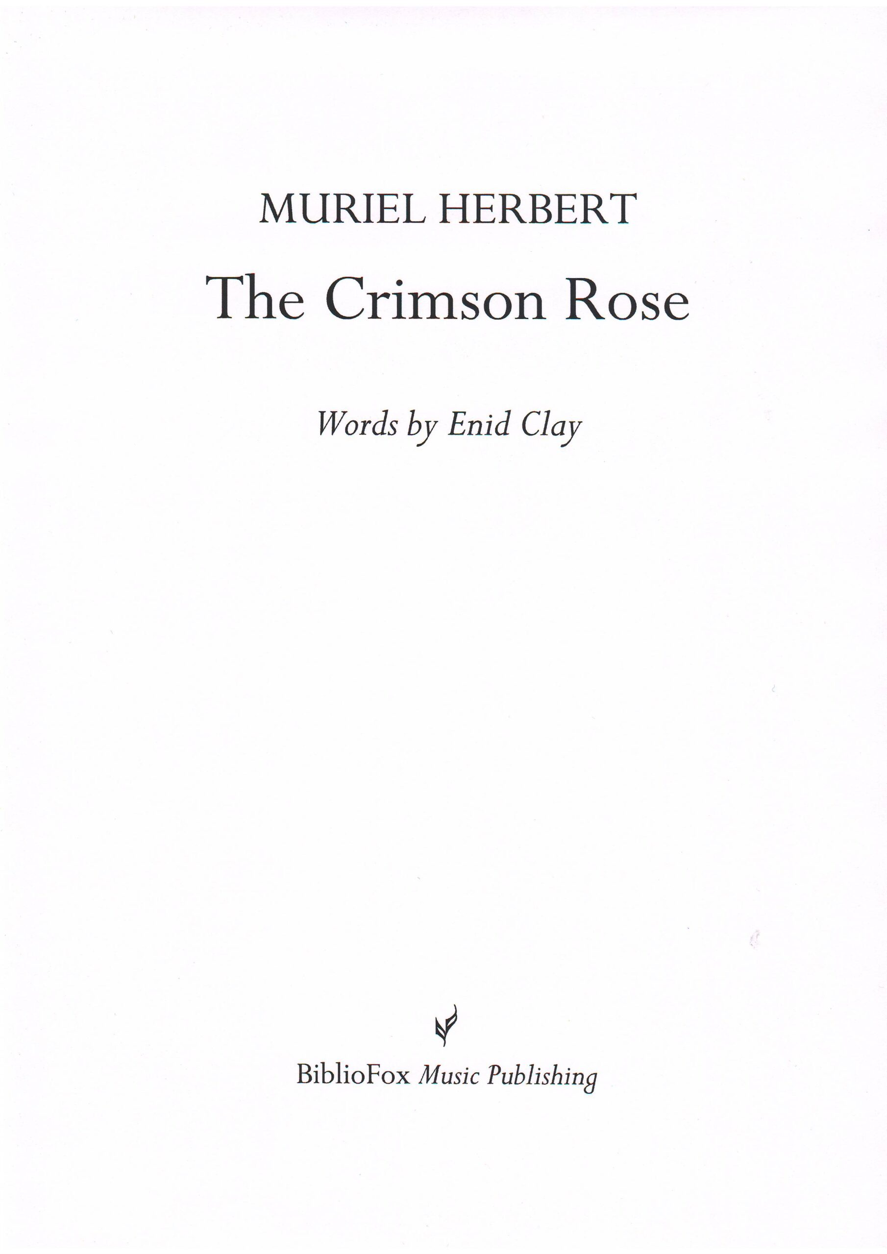 Cover page of Herbert The Crimson Rose