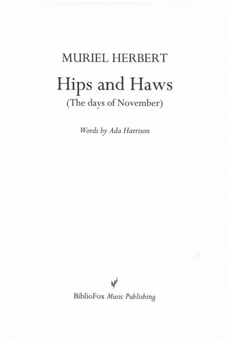 Cover page of Herbert Hips and Haws