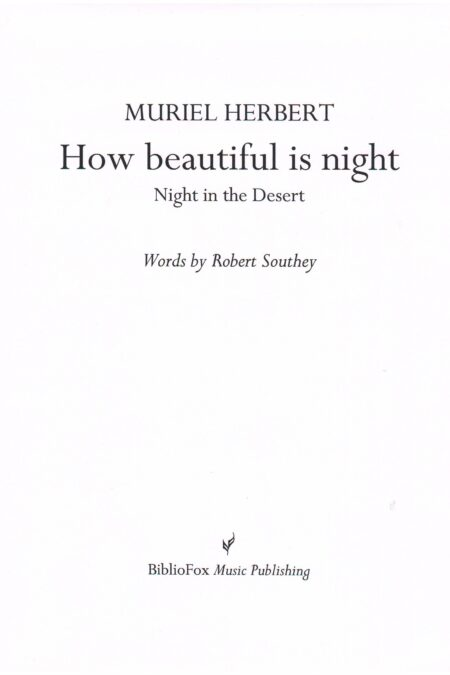 Cover page of Herbert How Beautiful is Night