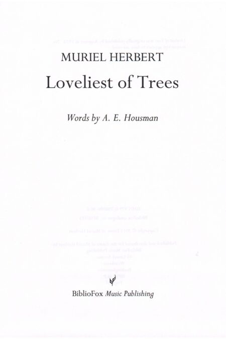 Cover page of Herbert Loveliest of Trees