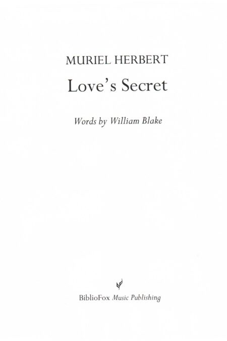 Cover page of Herbert Love's Secret