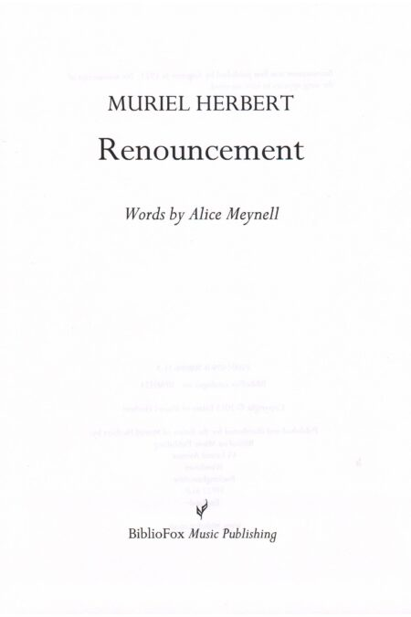 Cover page of Herbert Renouncement