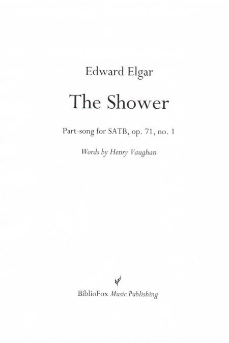 Cover page of Elgar The Shower